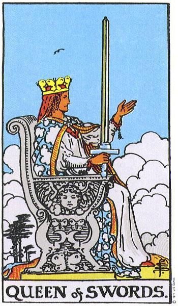 queen of swords, tarot, susan miller, rider waite, the wild unknown