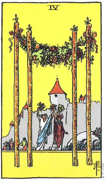 four of wands, tarot, the universe, susan miller, the kitten life