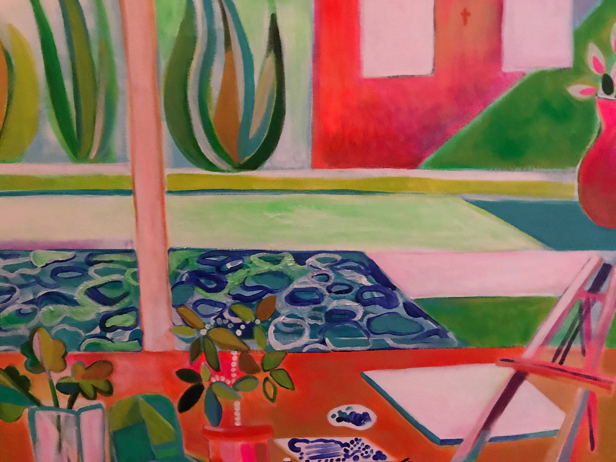 A glimpse at an acrylic painting by Nicole Durocher
