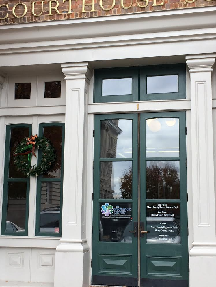 OUR OFFICE - Located in Columbia's Historic Downtown Square, the Mediation Center is a 501(c)(3) non-profit organization which has served Maury & surrounding counties for over 20 years.