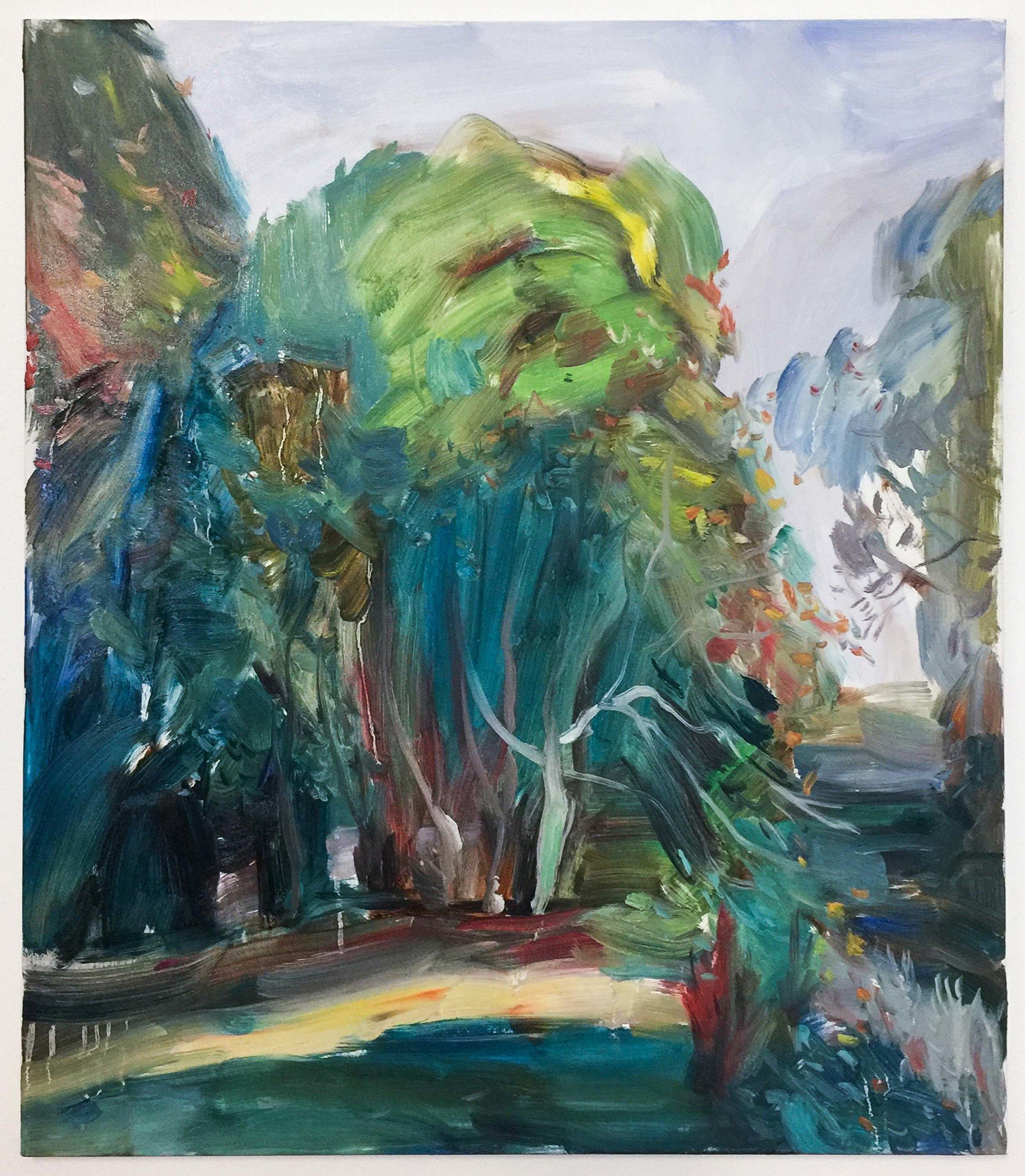 Oil on canvas,  60 x 50 cm
