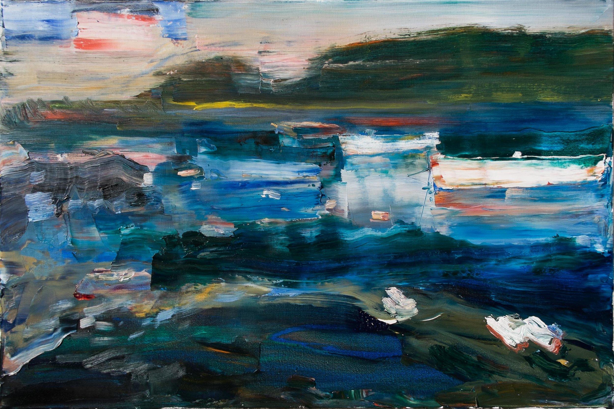 Oil on canvas,  40 x 60 cm
