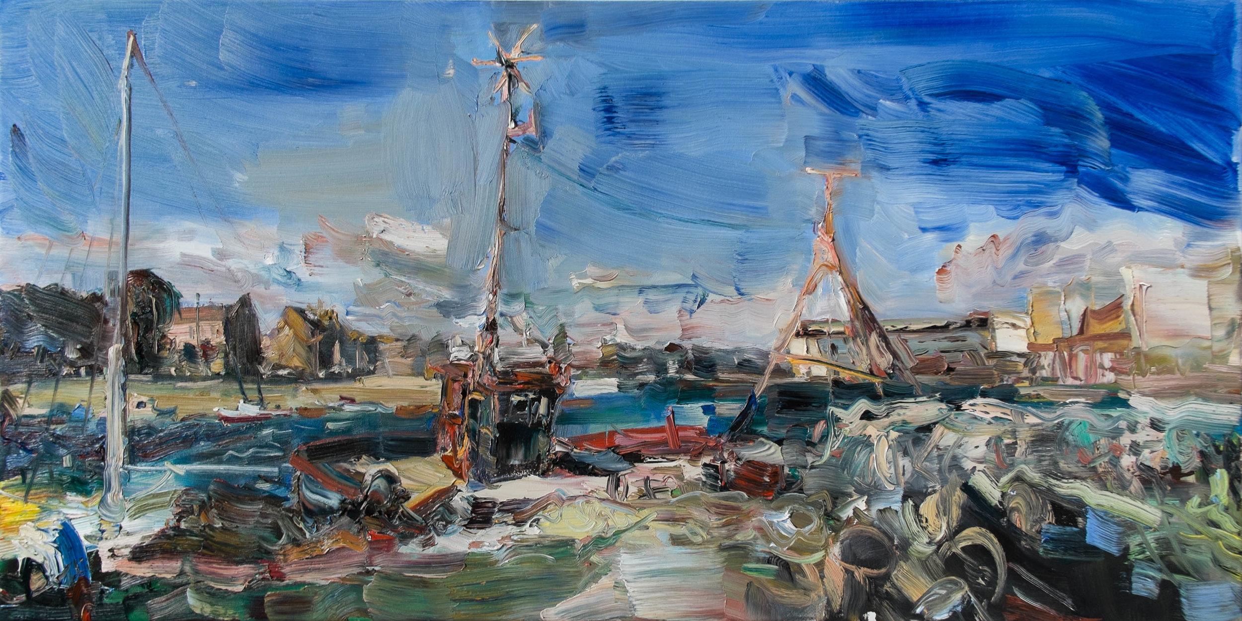 Oil on canvas,  40 x 80 cm