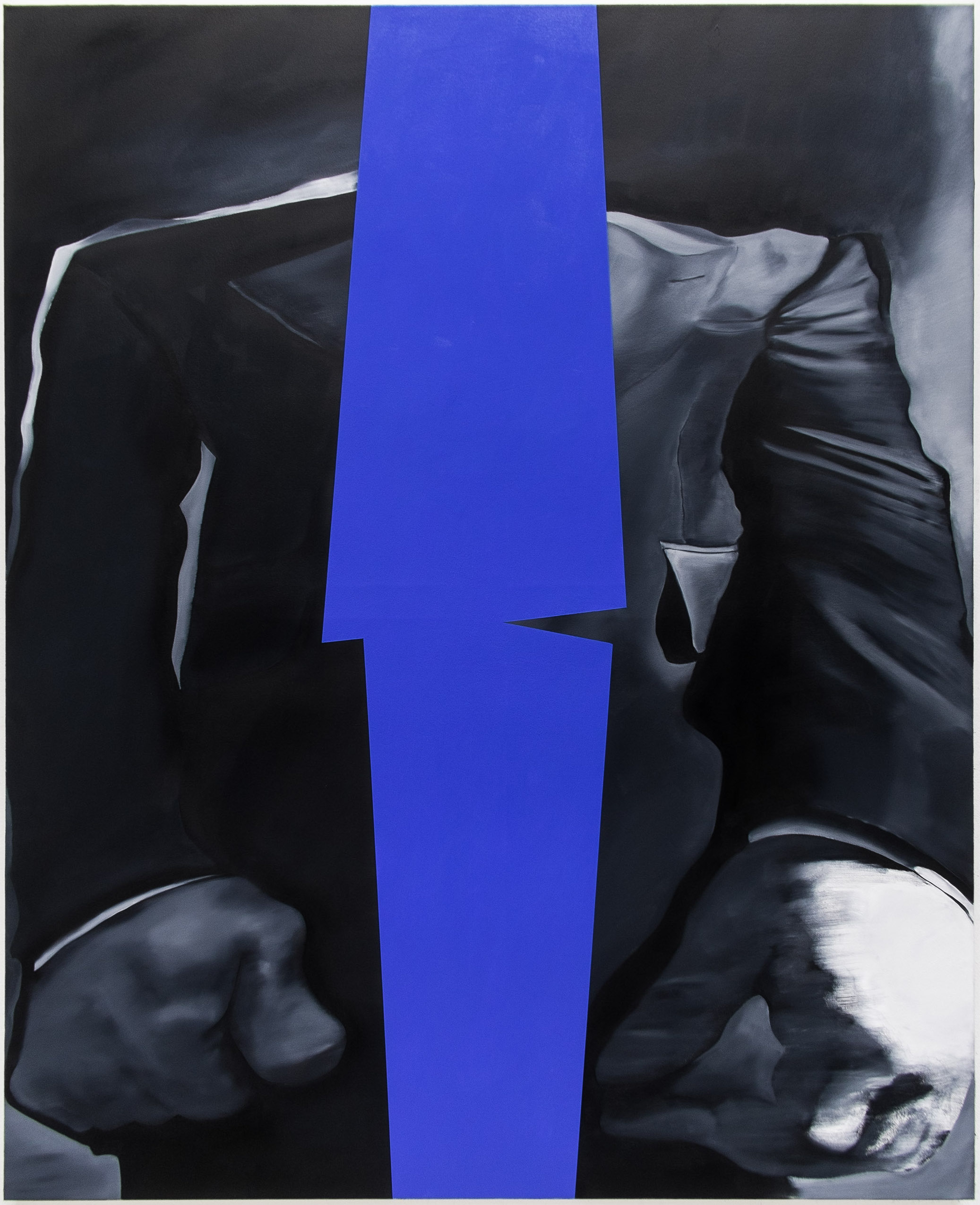 Blue Jacket , 2019  Oil on canvas  150cm x 120cm