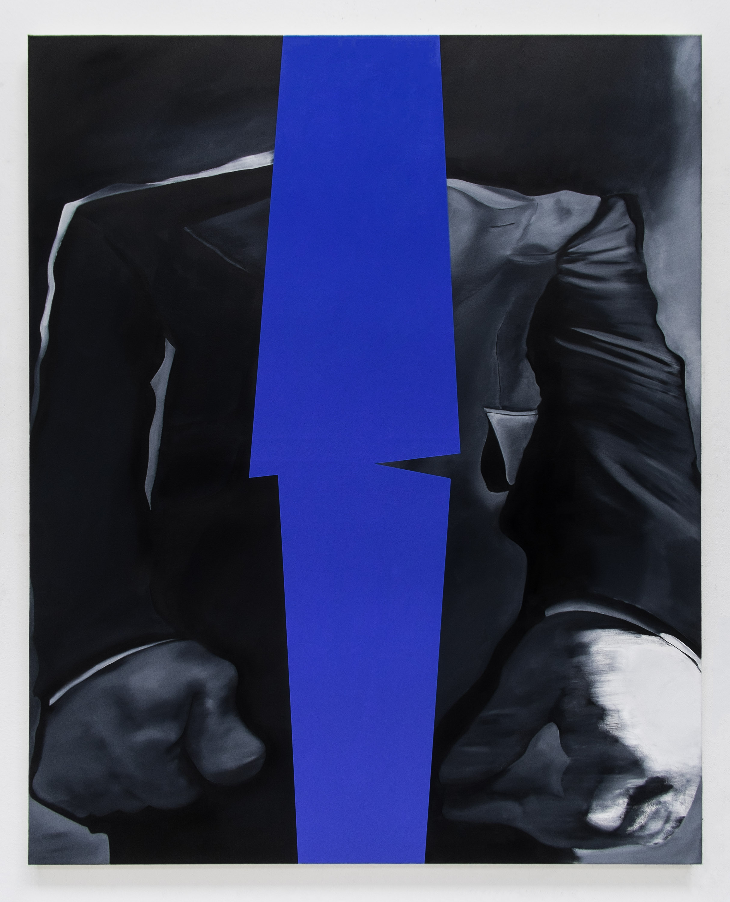 Blue Jacket , 2019  Oil on canvas  150 x 120 cm