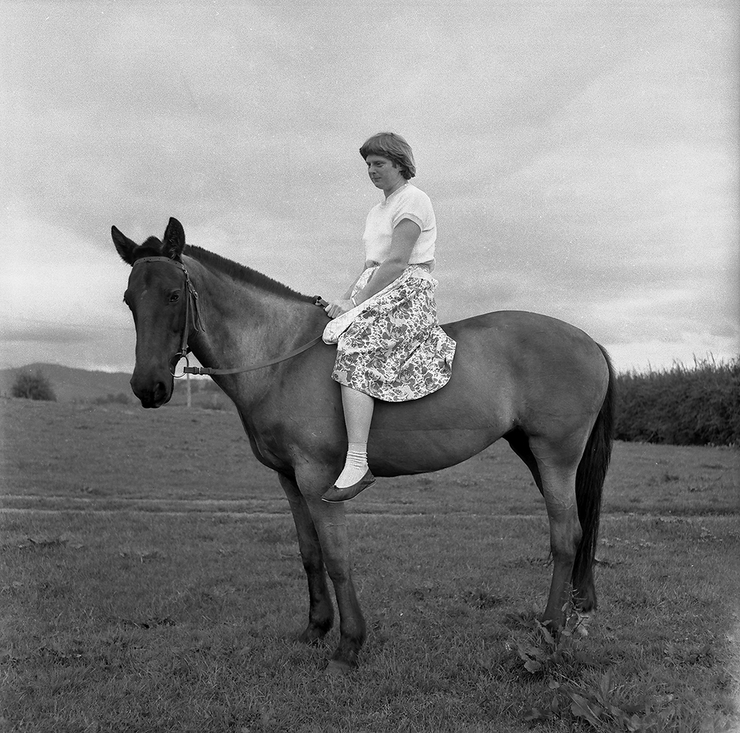 Joan on Horse, c. 1960: A photograph by Gilbert Melrose