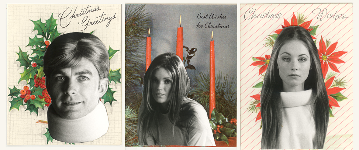 Set of Three Seahorsel Christmas Cards, 2012