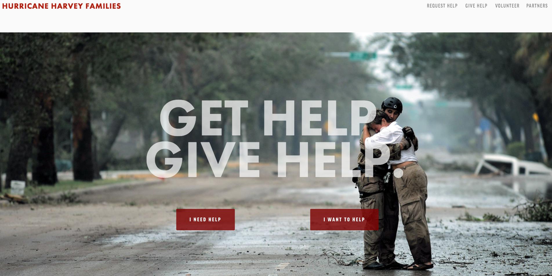 Hurricane Harvey Families Homepage