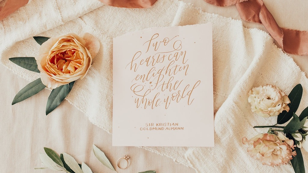 calligraphy: Design to Flourish // photography: Elle Reaux Photo // florals: Wildly Cultivated