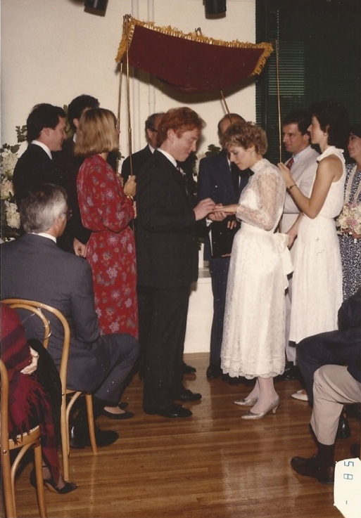 John and I tie the knot in New York City on August 31, 1986.