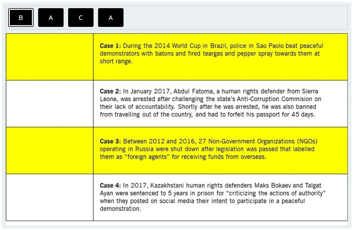 Case Exercises -