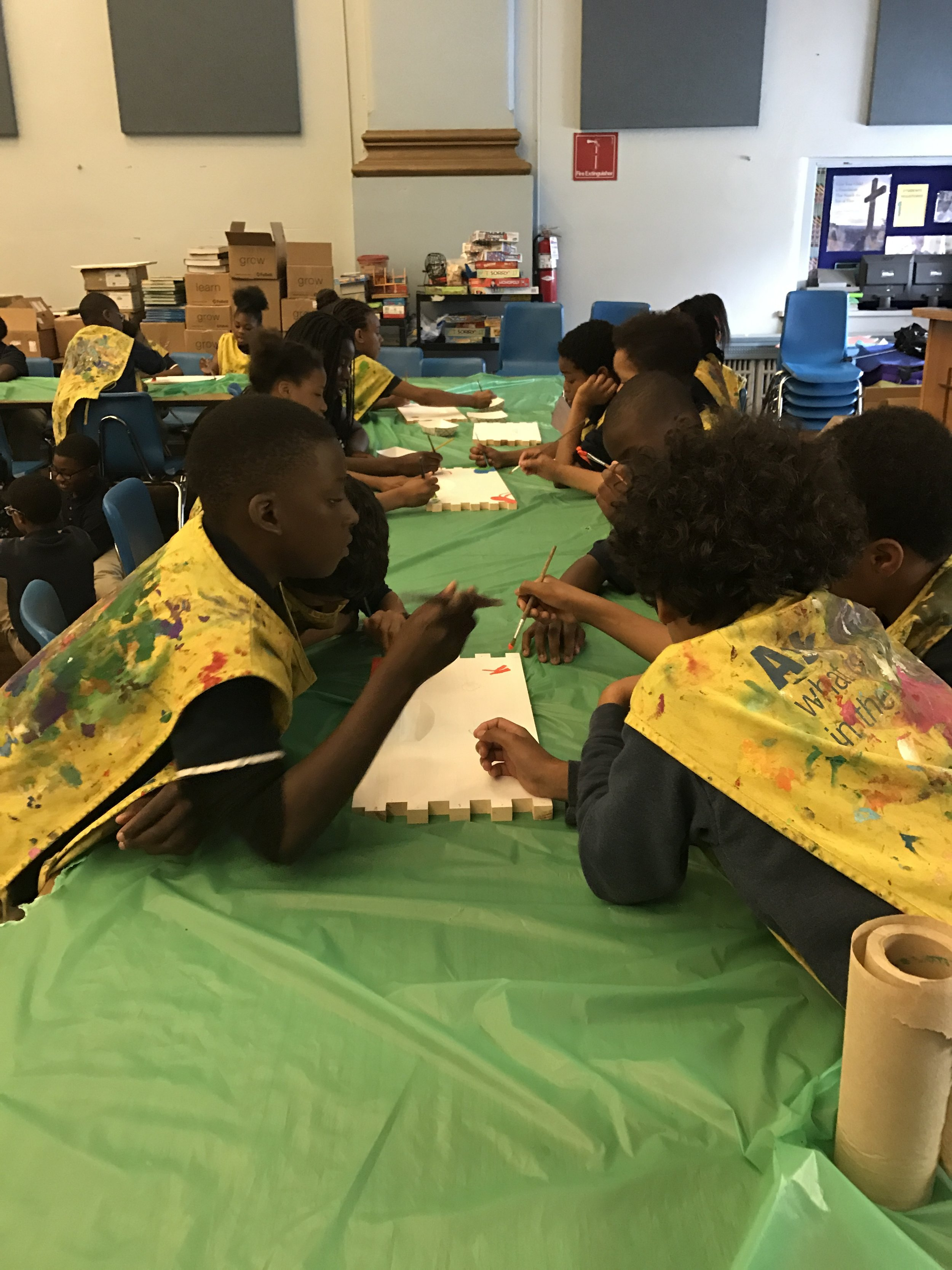 ST Francis School painting Hives.JPG