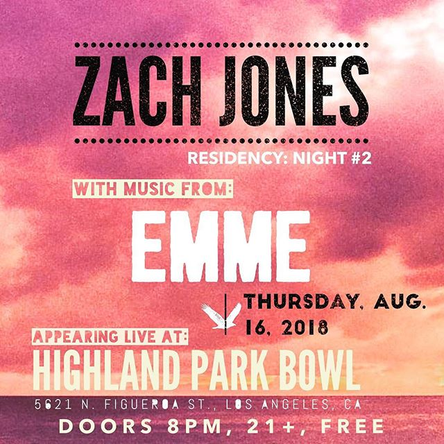 Nothing soothes the soul like music. Join us tonight at @highlandparkbowl . All of you are on the guest list.