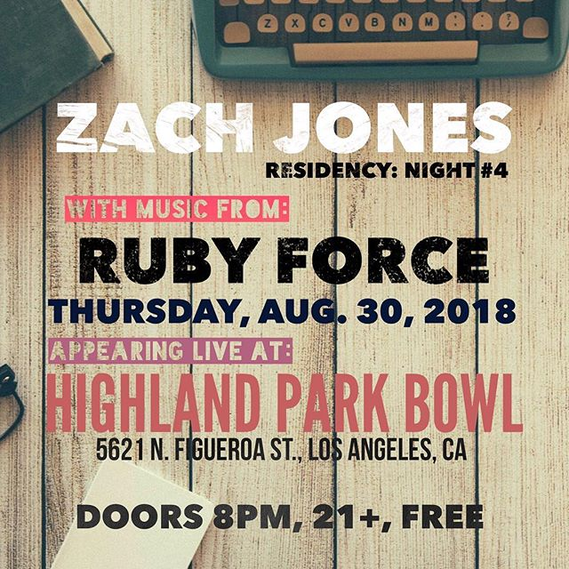 We'll be closing out our August Residency at @highlandparkbowl tonight with @rubyforce. Good times and great tunes. See you there!