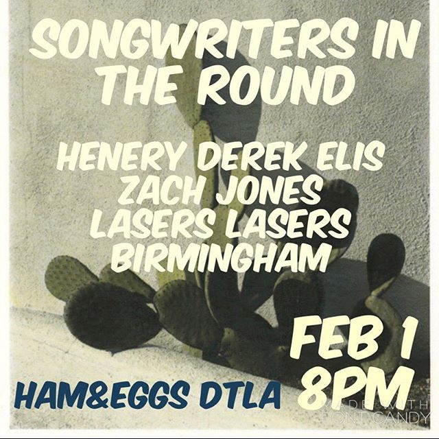 Strummin some tunes and telling some stories  at @hamandeggsdtla with @laserslasersbirmingham and @henryderekelis. Join us, won't you?
