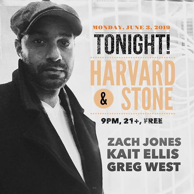 Tonight's the night! Playing @harvardandstone at 9:15. Followed by @kait.ellis, then @gregorybwest. See you there!