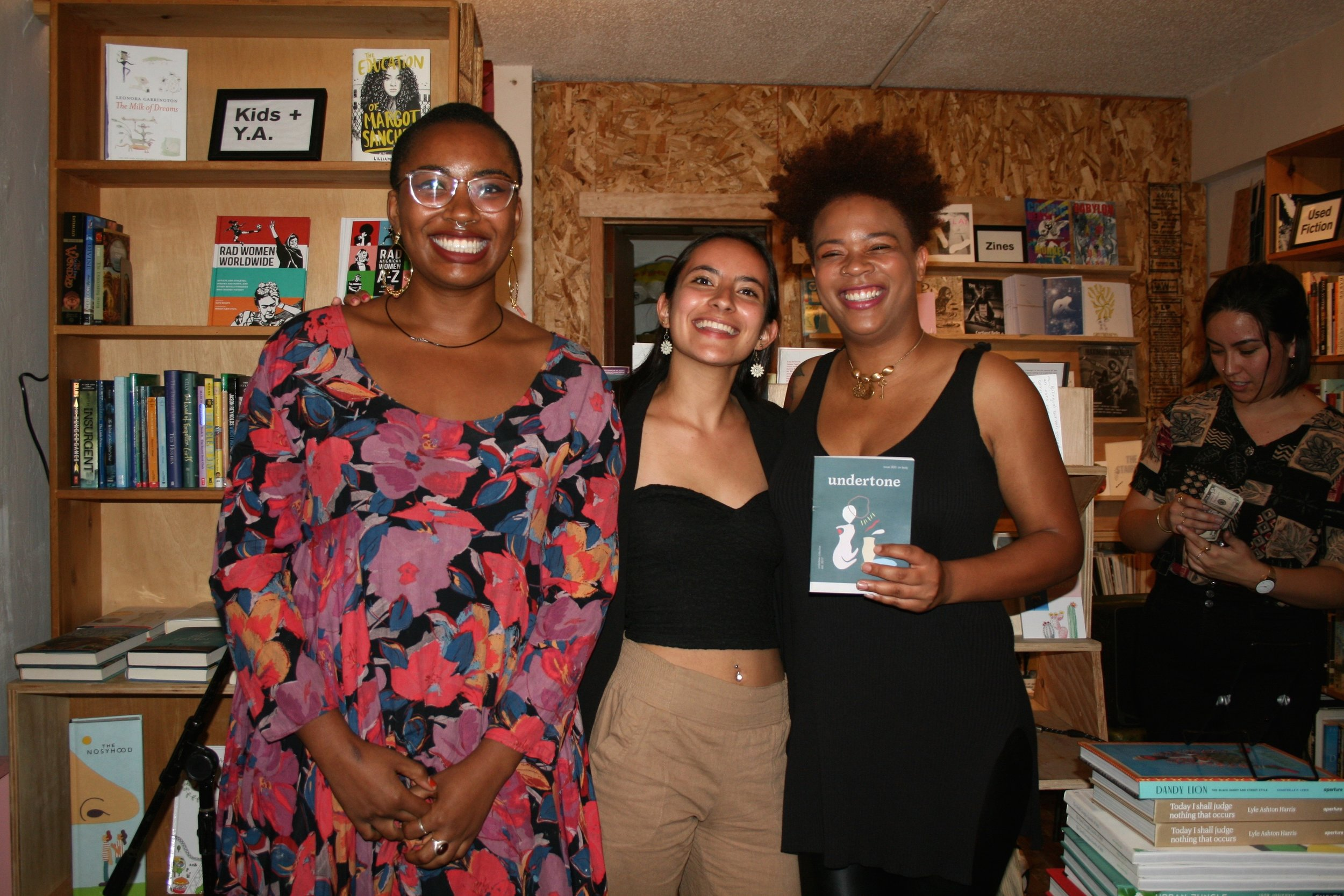 Featured poets at Wolfman Books