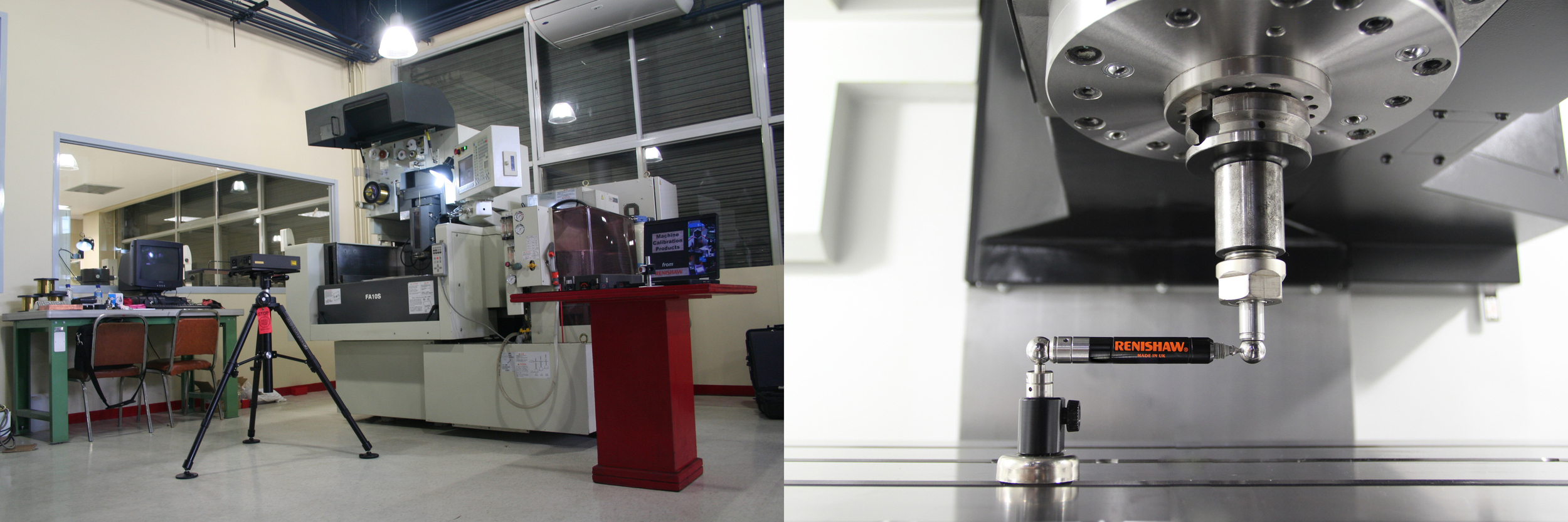 MESCO IS ALSO THE ONLY MITSUBISHI DEALER IN THE WHOLE ASIAN REGION THAT HAS ITS OWN RENISHAW LASER AND BALL BAR CALIBRATION SYSTEM USED IN WEDMS   AND OTHER MACHINE TOOLS.