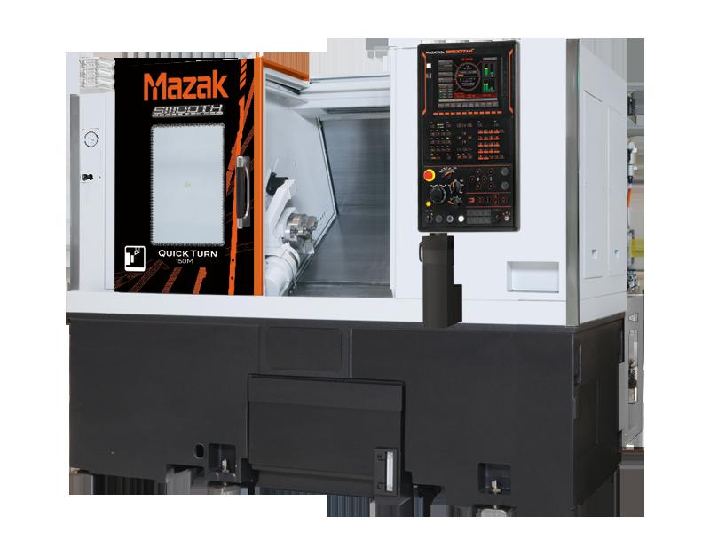 "MAzak QT150M: 2-axis 8"" chuck cnc lathe with milling function"