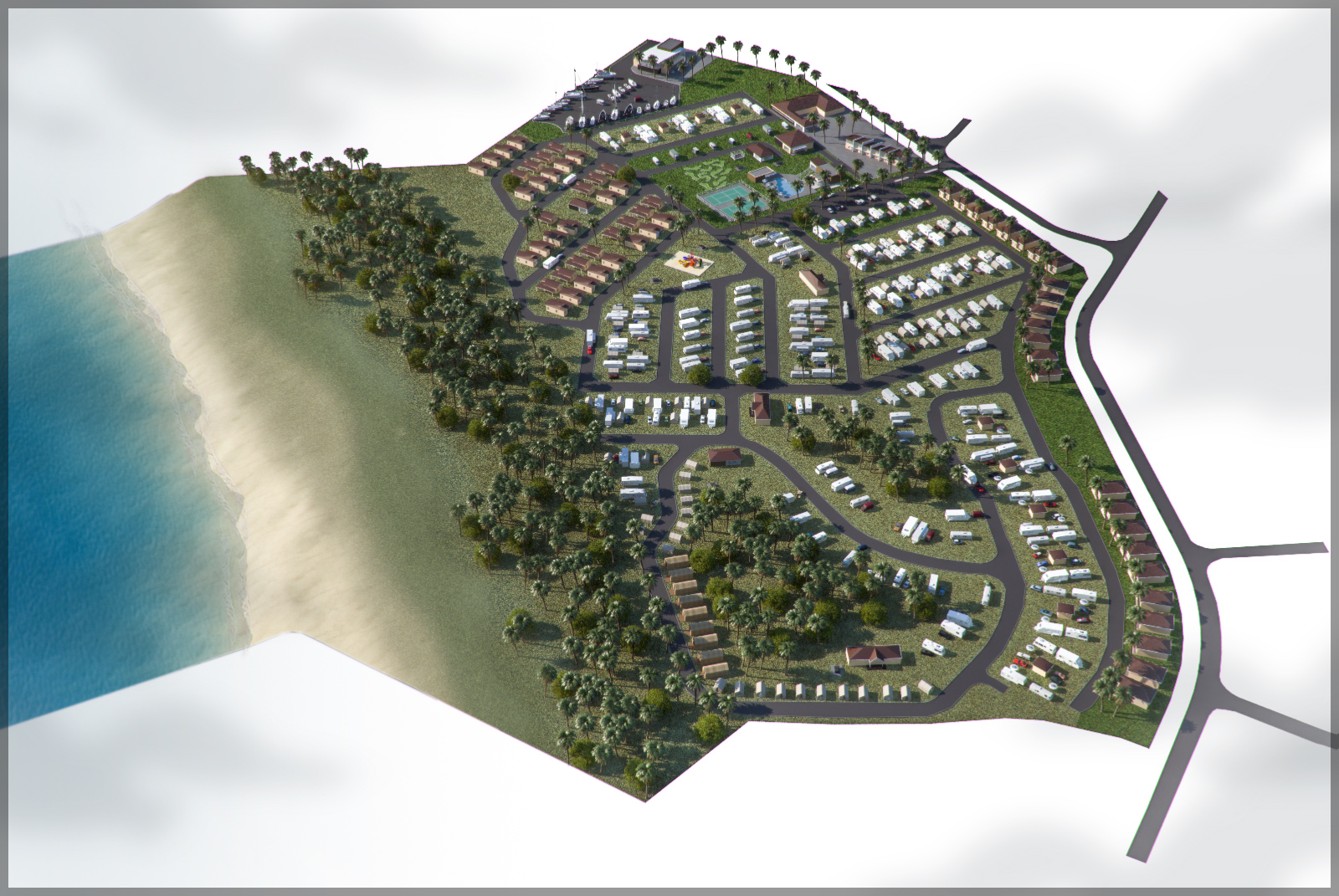 3D Design Drawings Display Caravan Park Site Concepts