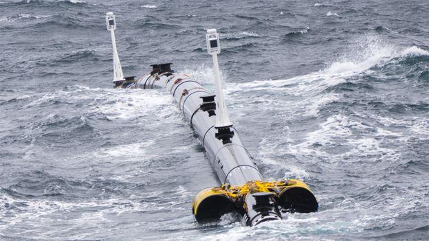 Part of boom in ocean trials