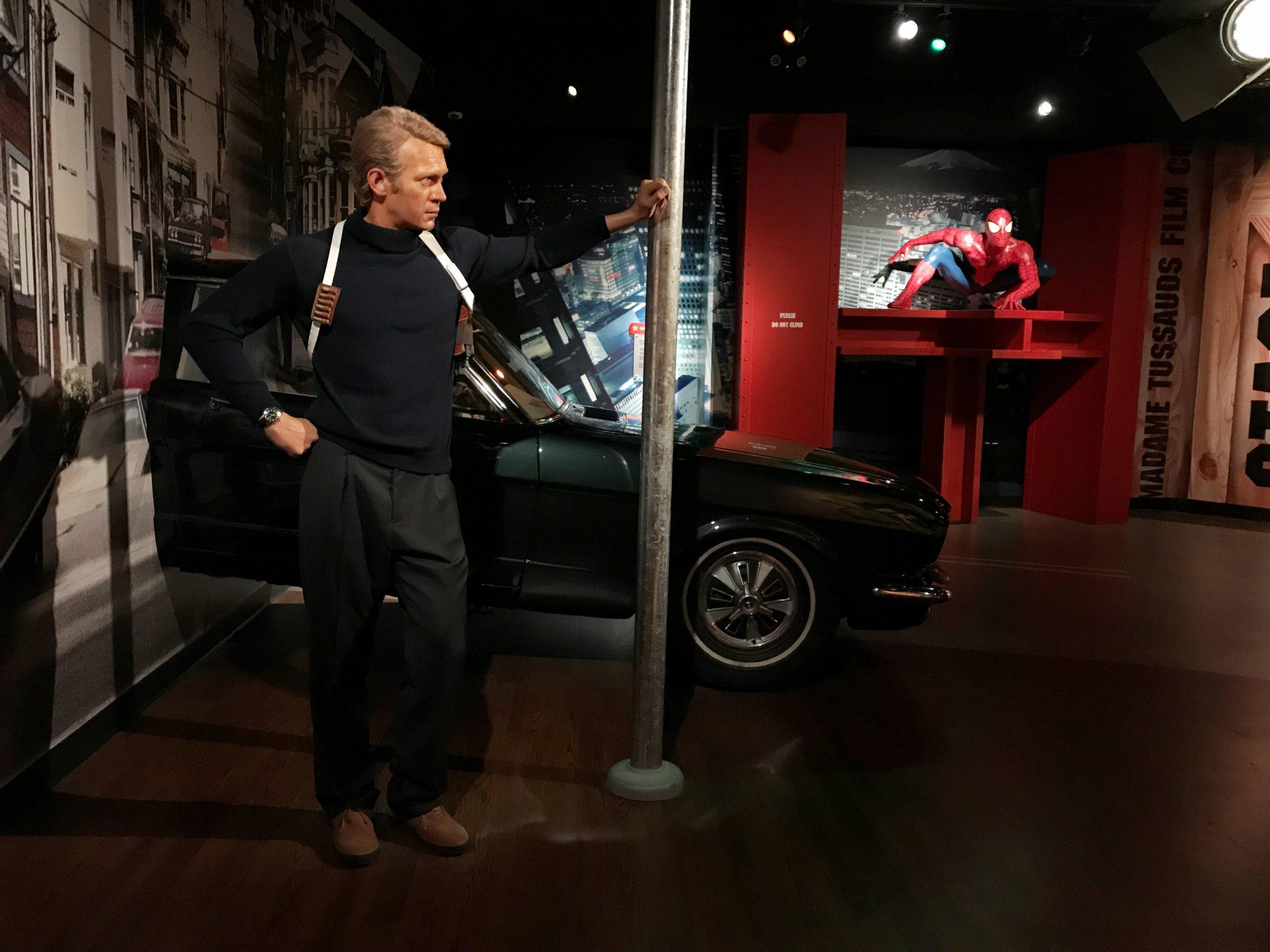 Steve McQueen & Spiderman