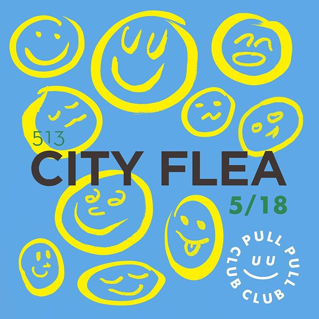 💙THIS SATURDAY💙 Pull Club has been hard at work prepping for the first @thecityflea of the season with new designs and a new set up. The forecast is lookin like summer so come visit us in Washington Park, 10-4! 🌞