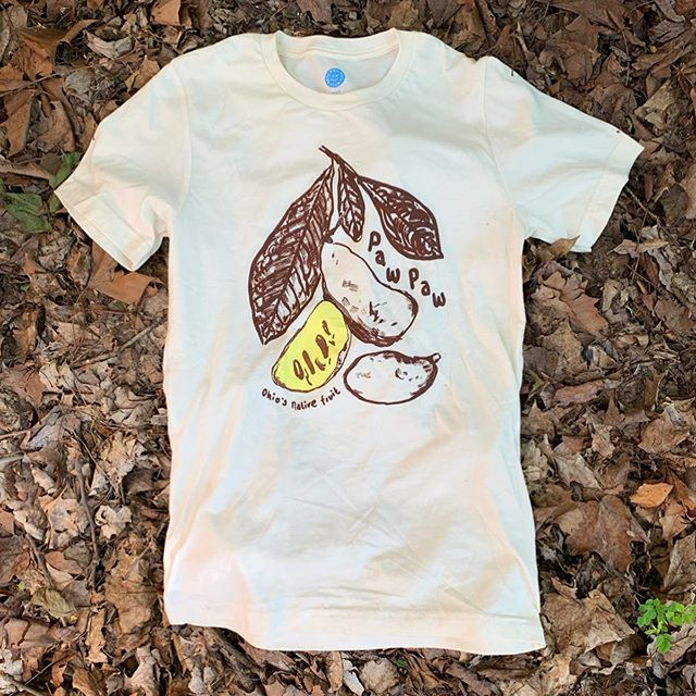 Did you know Ohio has a native state fruit?! You may have seen these banana shaped fruits when you're hiking around or maybe you already know a Paw Paw enthusiast. We're doing a small reprint of our Paw Paw shirt! If you want to preorder one before they run out then shoot us a DM with your size and we'll get you on the list. This hot native fruit shirt will run you $20. #pawpawfruit #ohionativefruit