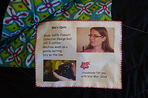 The Quilt Label is personalised