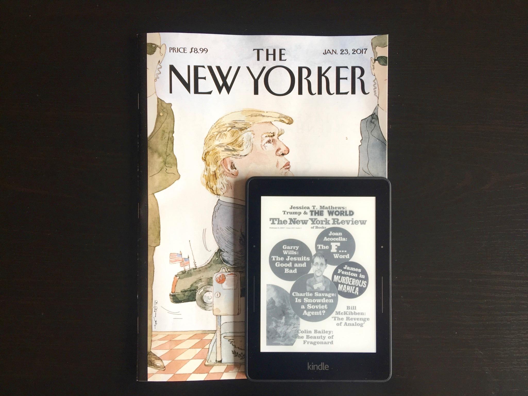 Leer revistas o cómics es muy difícil en el Kindle. No está pensado para esto. Observen la diferencia de tamaños.