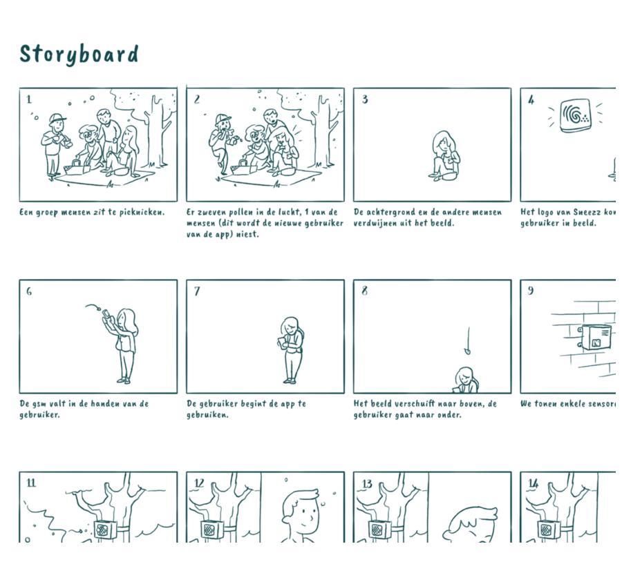 Sneezz - storyboard
