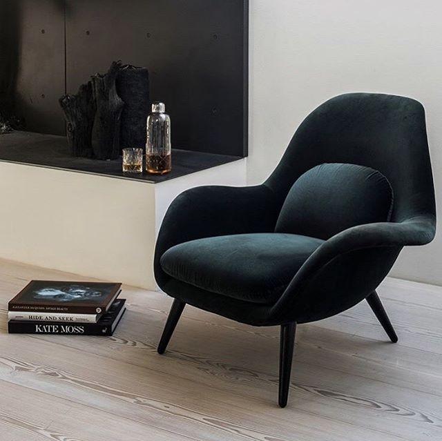 Det er lov å unne seg luksus når man skal kose seg. Swoon chair fra @fredericiafurniture er dansk design på sitt beste 🤩  #nobuhometips #interiør #interiørtips #interiørstyling #nordiskdesign #nordiskehjem #scandinaviandesign #fredericiafurniture