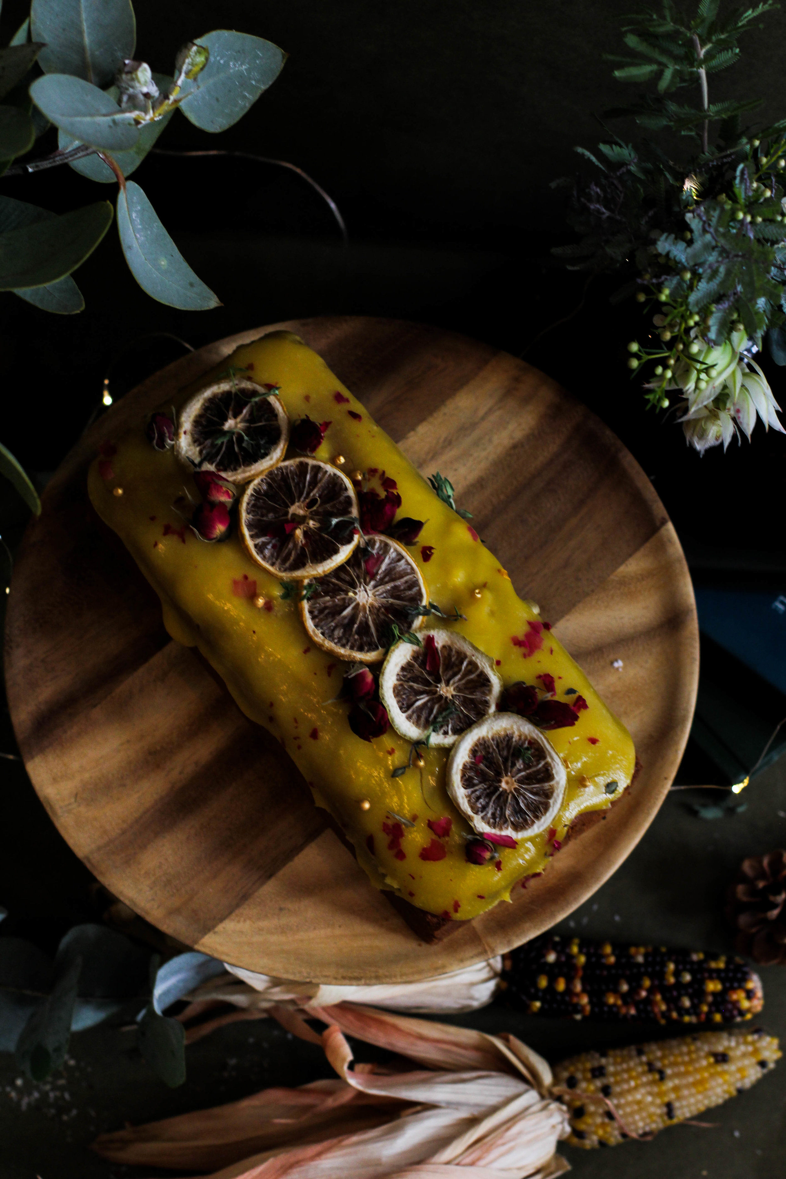 Orange Passionfruit Loaf Cake