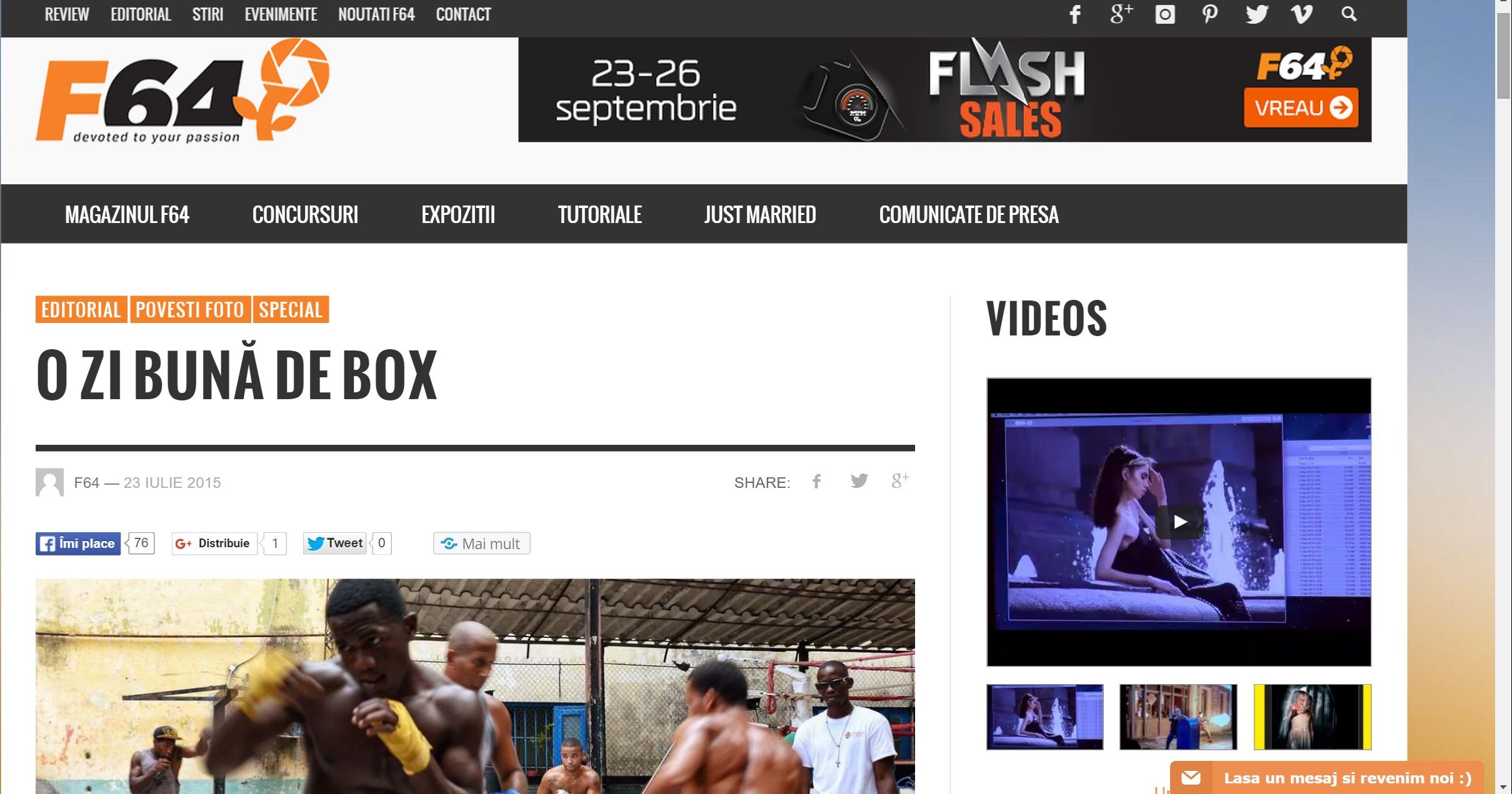 O zi buna de box, F64 blog, 2015