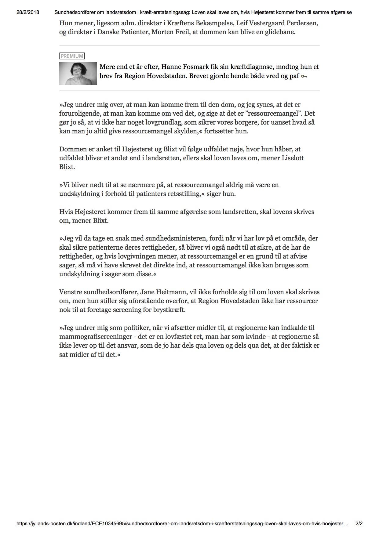 Sundhedsordfører om landsretsdom i kræft-erstatsningssag_ Loven skal laves om, hvis Højesteret kommer frem til samme afgørelse.jpg