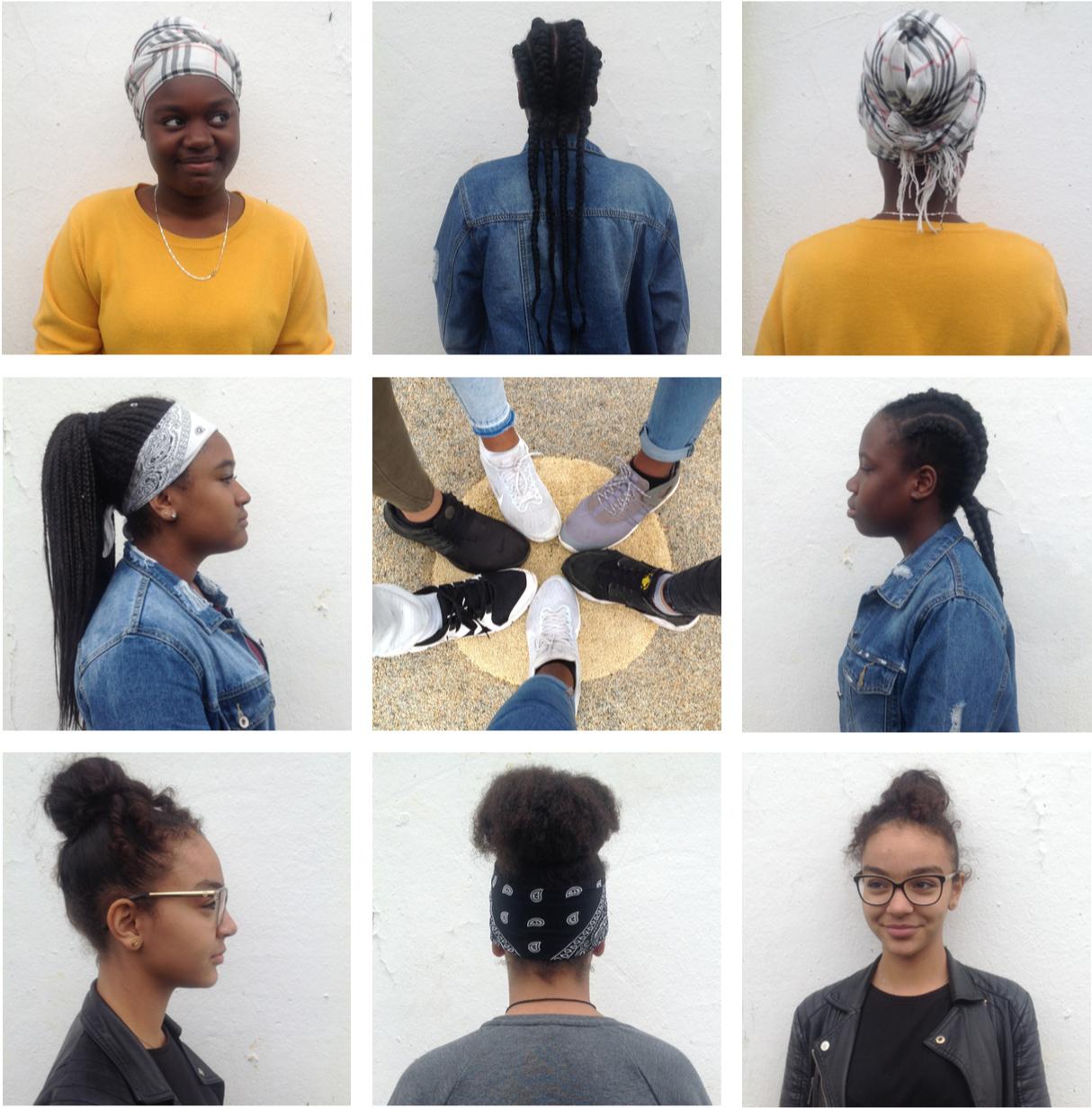 Grand-Vaux dans nos yeux - Fin 2017, avec le soutien de la DRAC qui subventionne les actions du dizaine de journalistes dans les territoires prioritaires d'Île-de-France, j'ai proposé une série d'ateliers auprès de dix jeunes femmes de la maison de quartier de Grand Vaux, près de Savigny-sur-Orge en Essonne.