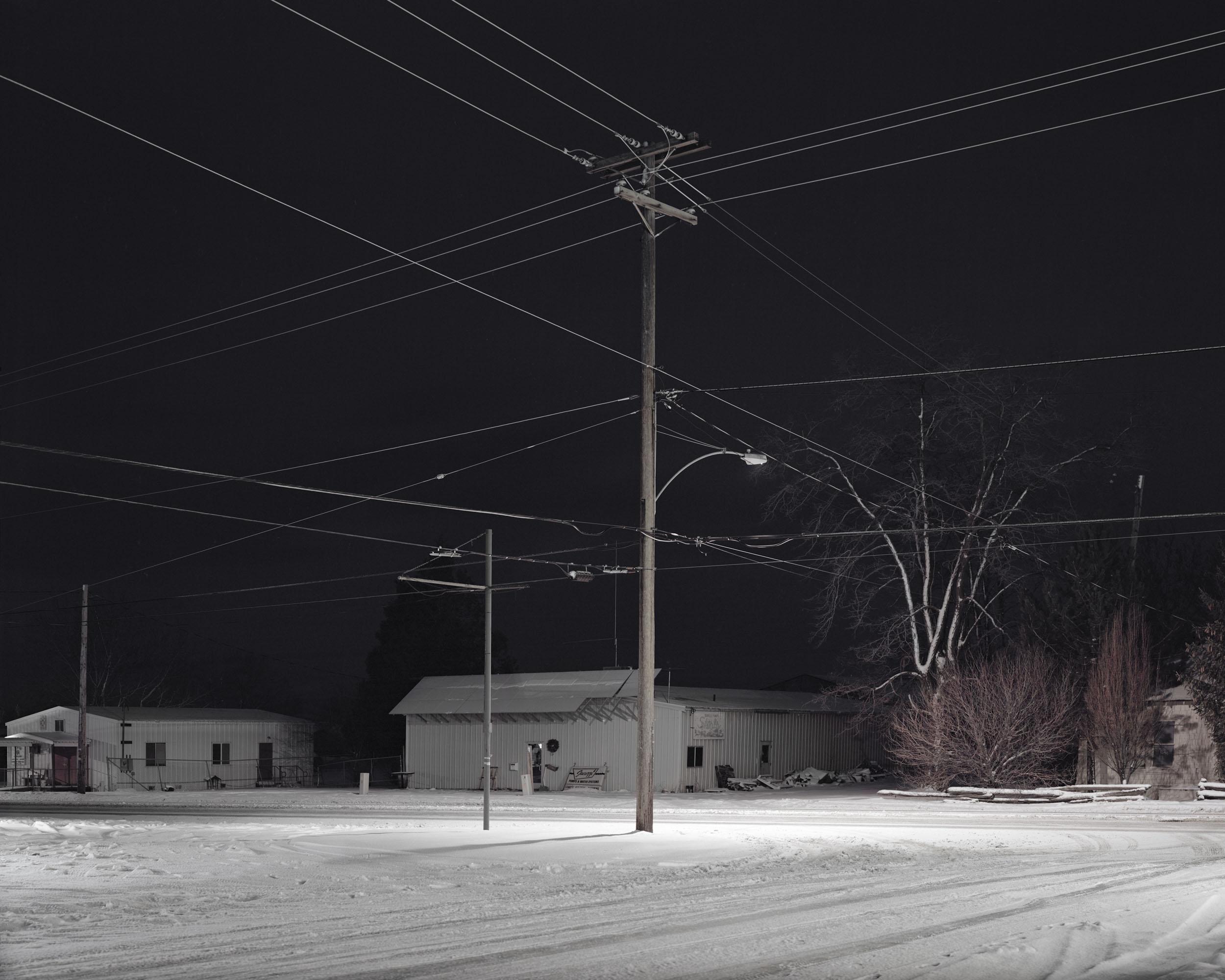 Crossroad at night