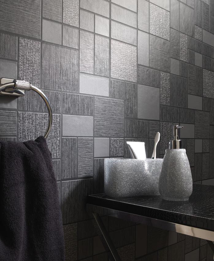 Glitter Tile Wallpaper