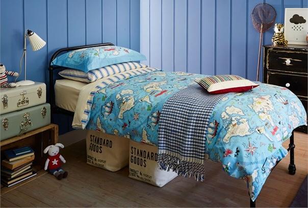 Bedding - Little Sanderson Treasure Map Single Duvet Cover