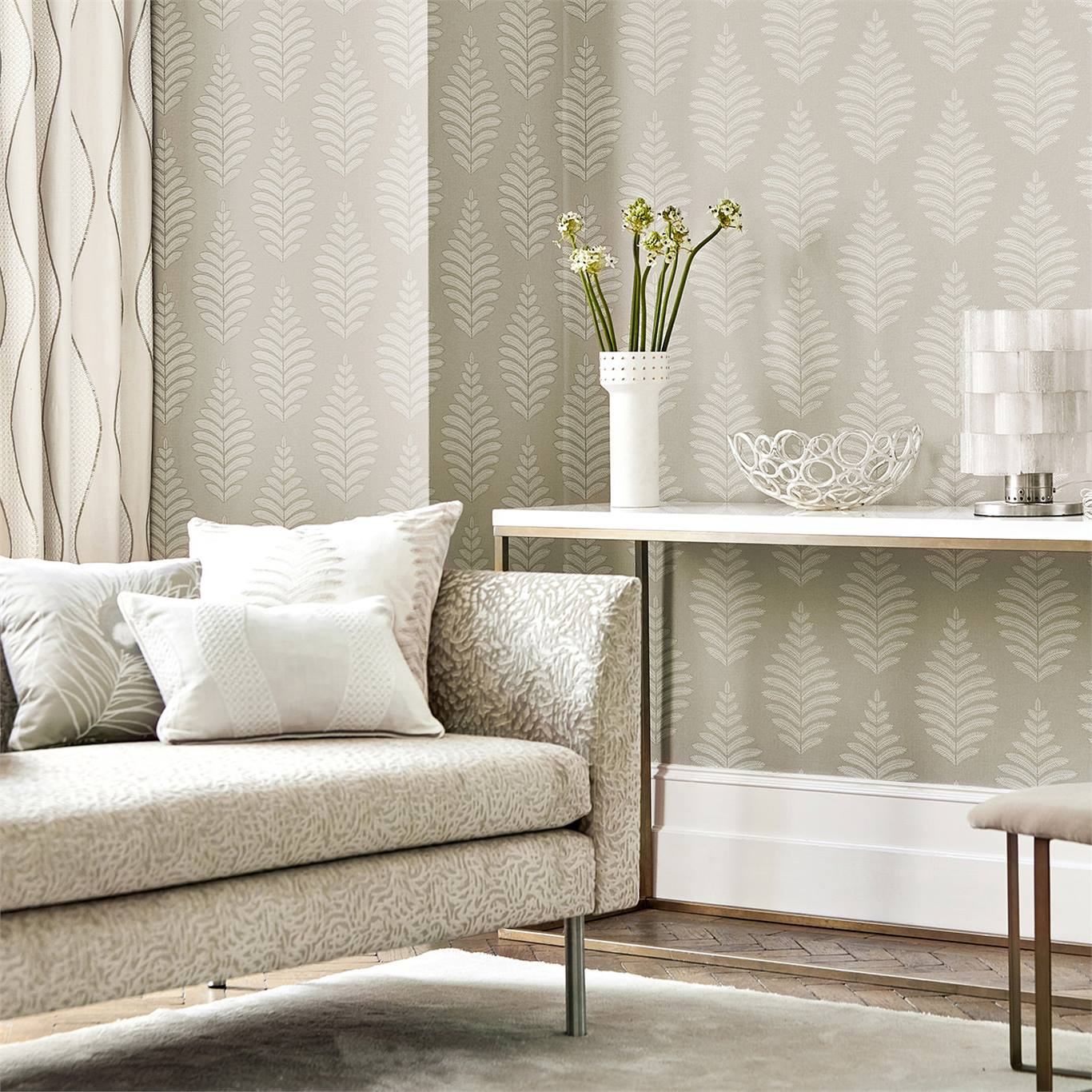 1-wallpaper-neutral-white-botanical-living-room-lucielle-paloma-harlequin-style-library.jpg