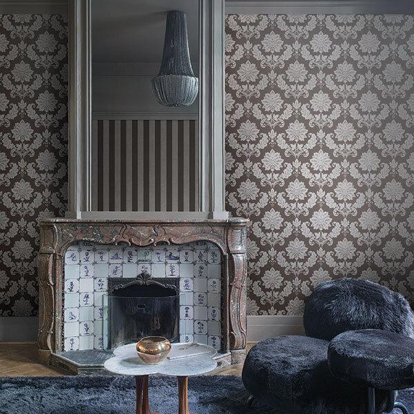 Es18029 Escala Damask Wallpaper Home Decor Hull Limited