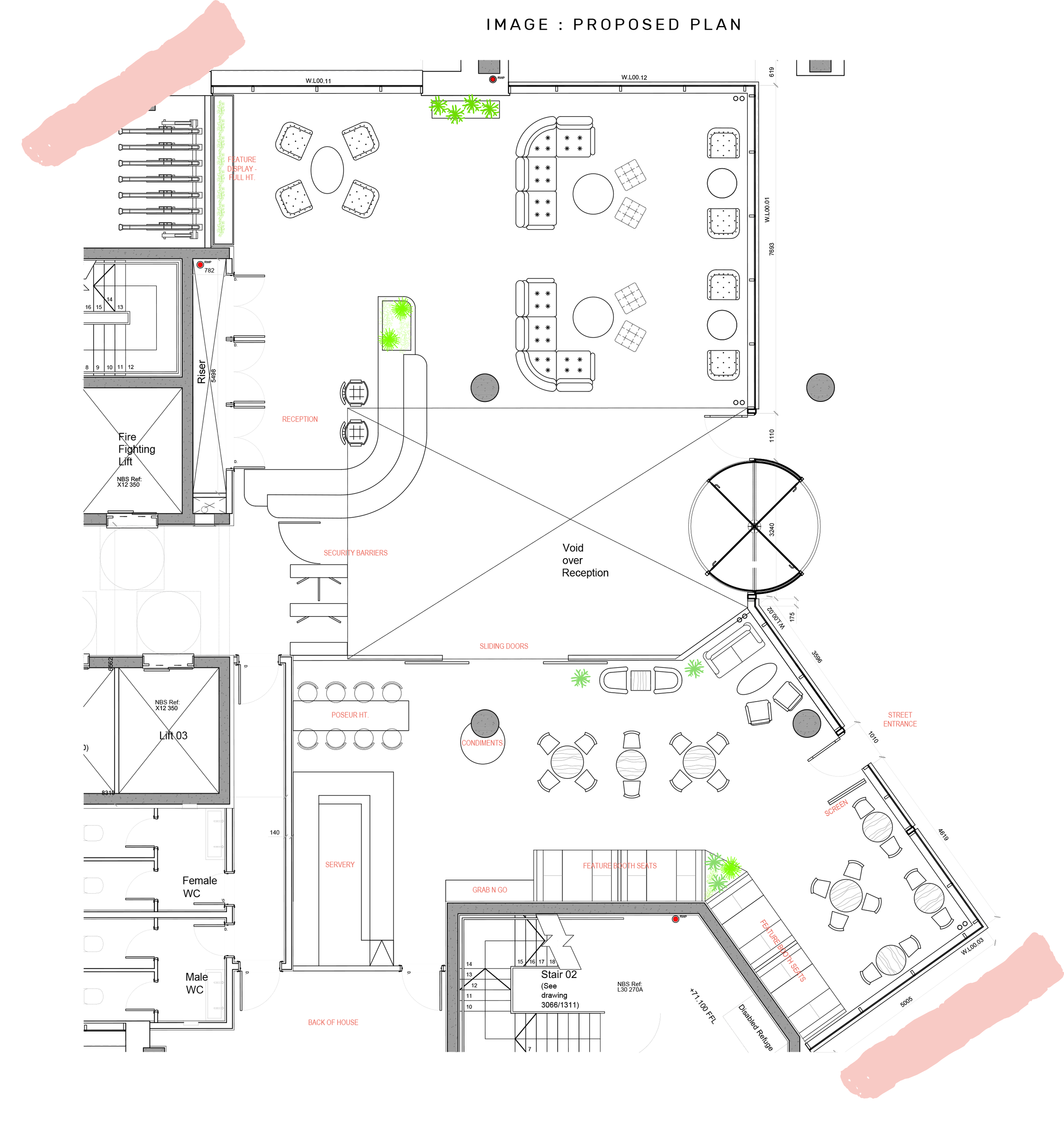 COFFEE SHOP - PROPOSED LAYOUT PLAN