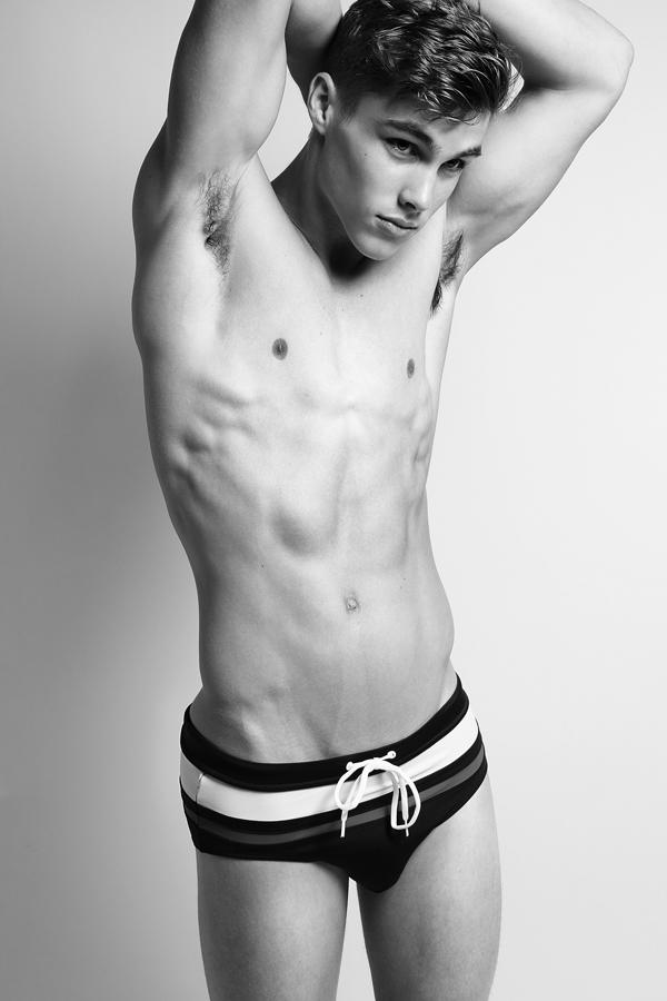 "Jon Herrmann  from   New York Models     HEIGHT: 6'1"" | WAIST: 31 | SHOE: 11.5 | HAIR: DARK BLONDE | EYES: BLUE   Photo by:   Dustin Mansyur  &   Marc Sifuentes     Jon wears speedo by   H&M"