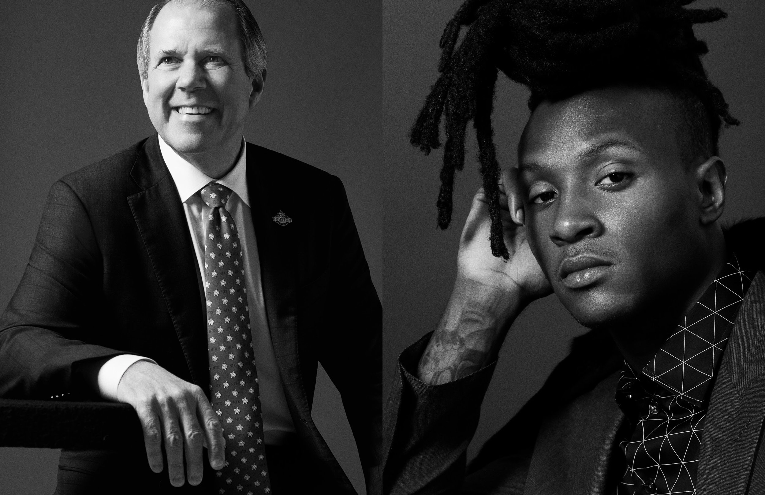 RIC CAMPO, CHAIRMAN OF THE HOUSTON SUPER BOWL HOST COMMITTEE & DEANDRE HOPKINS, WIDE RECEIVER FOR THE HOUSTON TEXANS