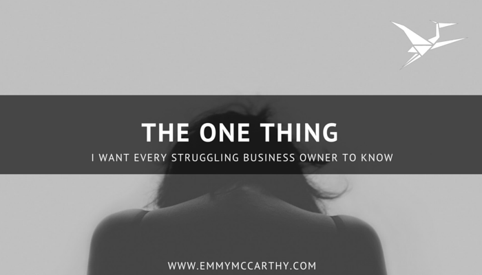 The one thing I want every struggling business owner to know - you are enough