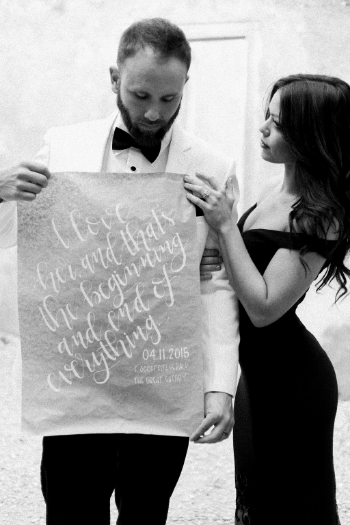 hand lettering by The Lovely Letterist