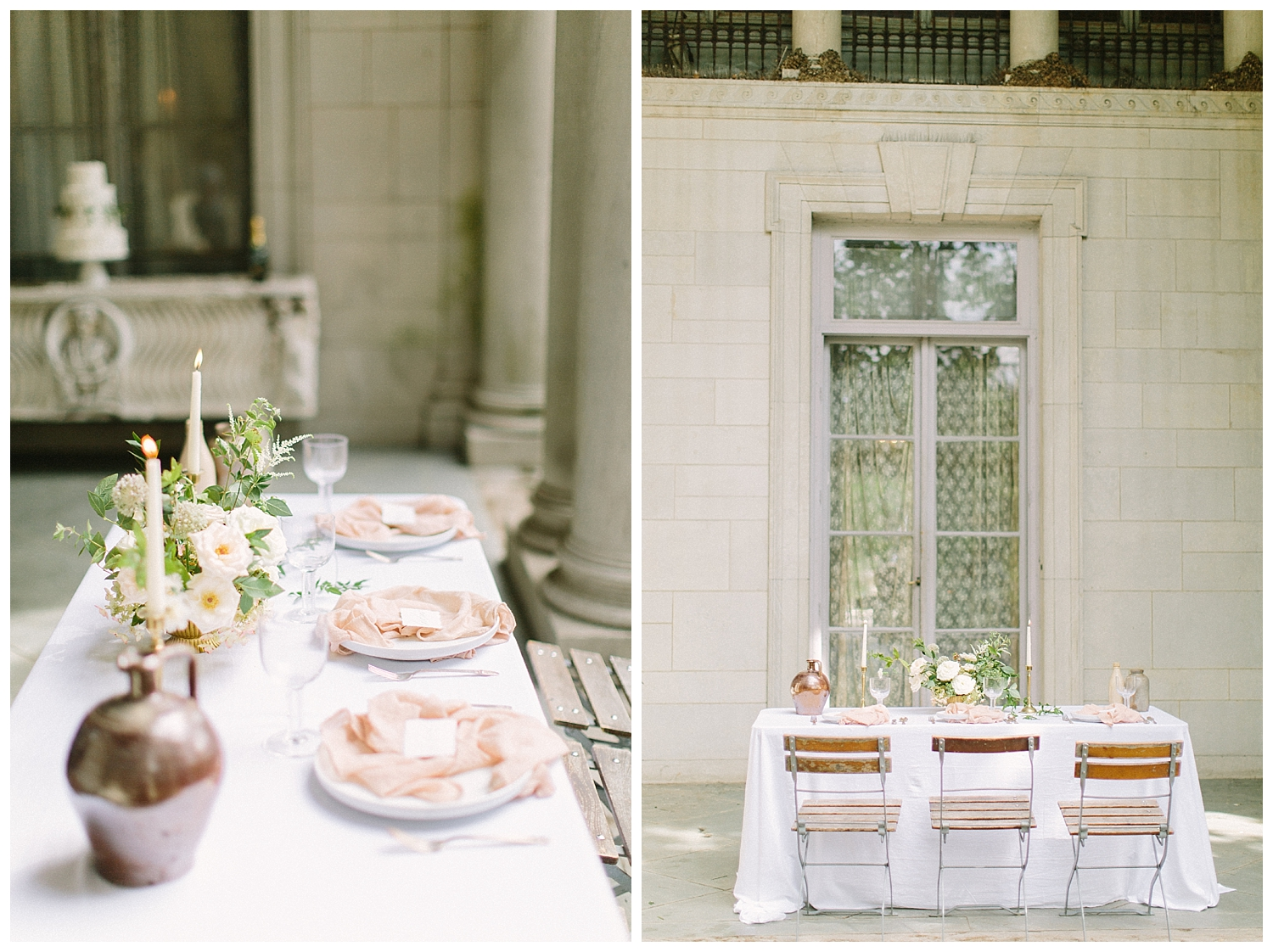 Blush color Wedding Reception