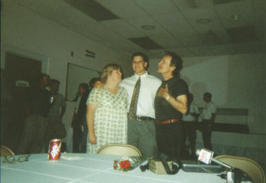 Pam Johnson, son Jeremiah Johnson, and Gordon Lightfoot