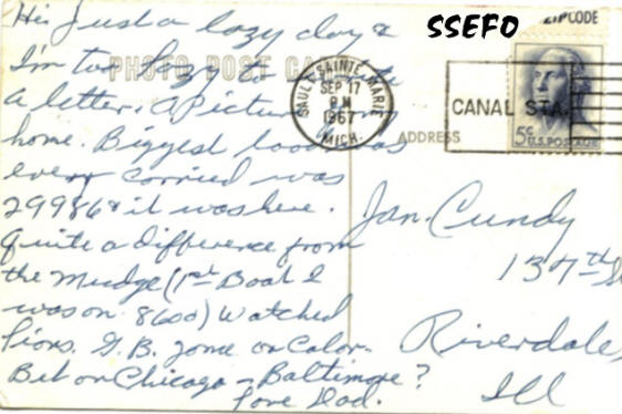A postcard from Ransom to his wife Jan