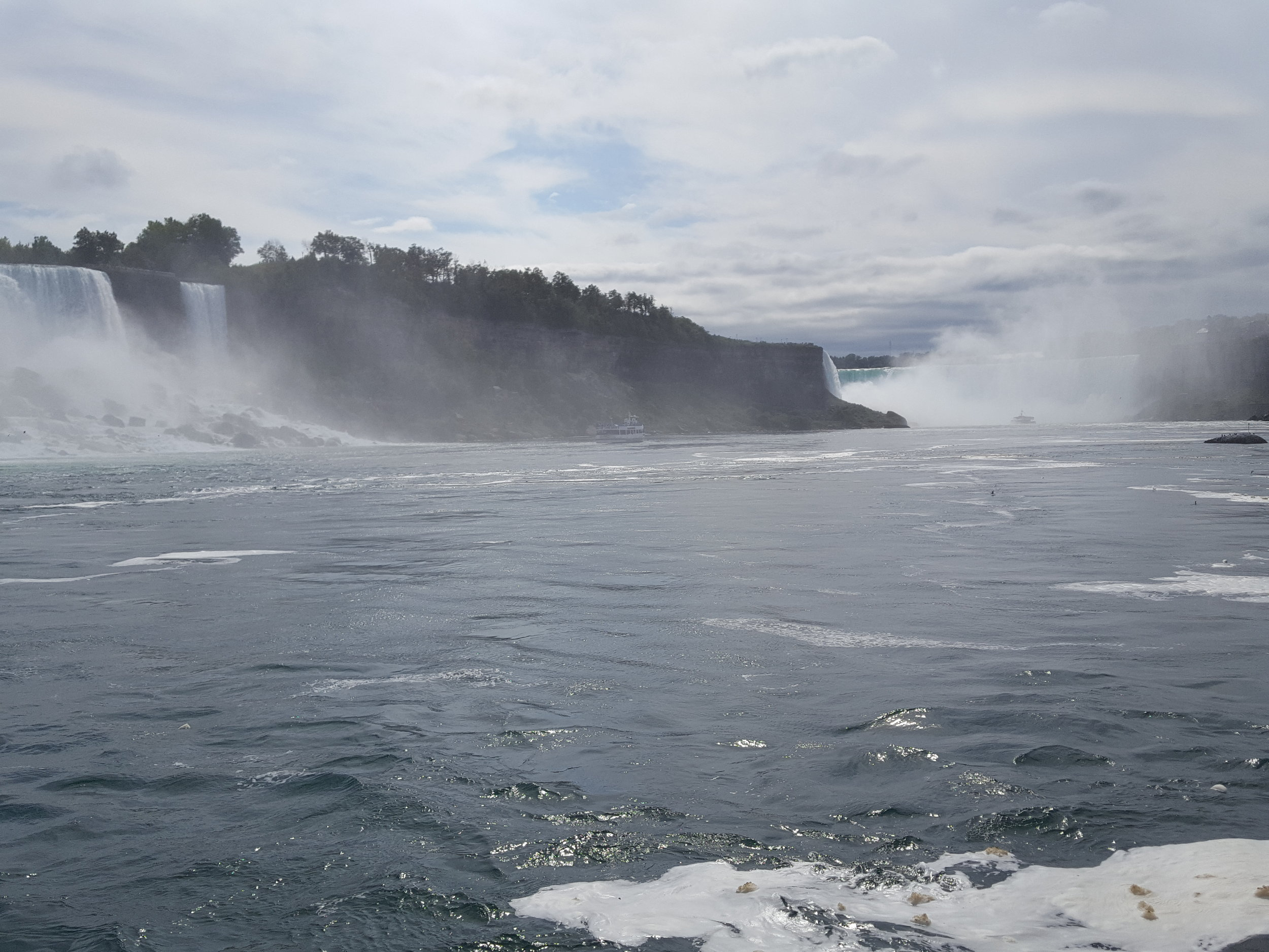 View of Niagara Falls from the deck of the Hornblower